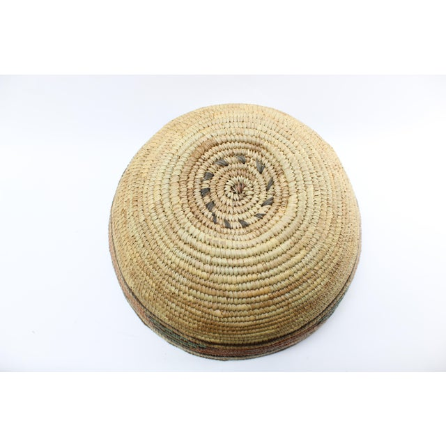 20th Century African Hand Woven Basket Bowl/Basket For Sale - Image 4 of 5