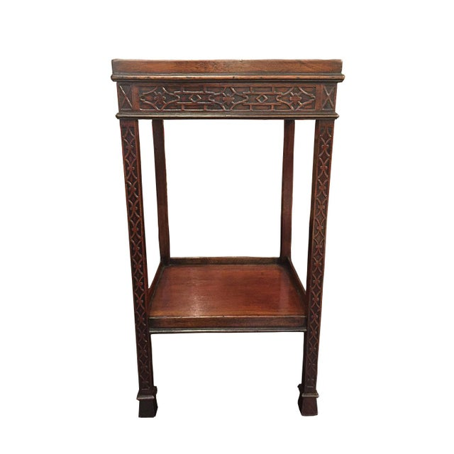 Brown 1820s Carved Mahogany Chippendale Style Side Table For Sale - Image 8 of 8