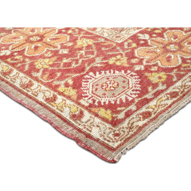 "1920s Nalbandian - 1920s Turkish Oushak Carpet - 8'3"" X 12'7"" For Sale - Image 5 of 7"