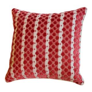 """Custom Tilton Fenwick for Duralee """"Soskin"""" Print in Poppy Red Pillow For Sale"""