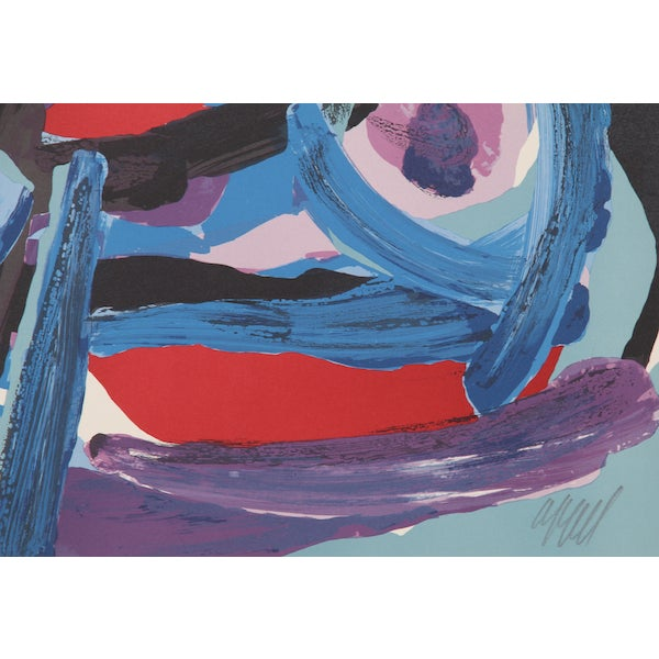 "Karel Appel, ""Walking With My Bird,"" Lithograph - Image 2 of 2"