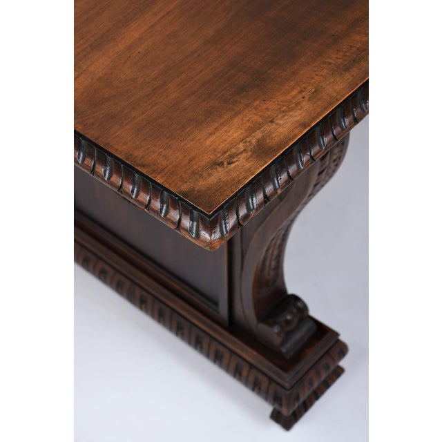 Antique Italian Baroque-style Desk or Library Table - Image 7 of 8