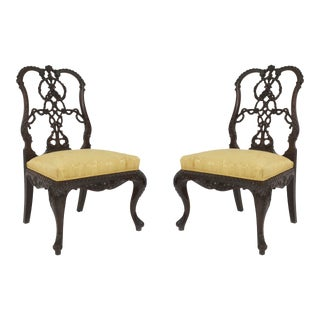 English Chippendale Mahogany Side Chairs For Sale