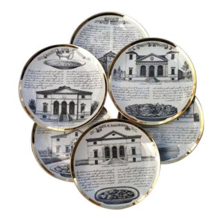 Fornasetti Set of six Vintage Plates