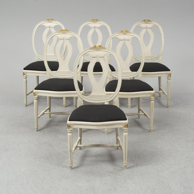 1970s Vintage Gustavian Rose Chairs - Set of 6 For Sale In Greensboro - Image 6 of 10
