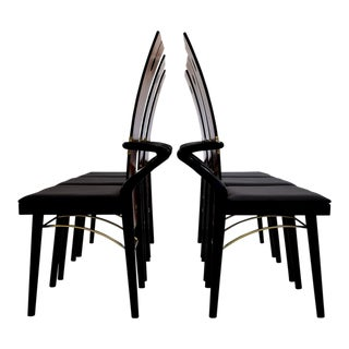 Pierre Cardin Hollywood Regency Dining Chairs For Sale