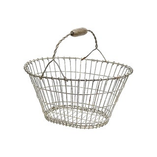 Antique French Garden Basket For Sale