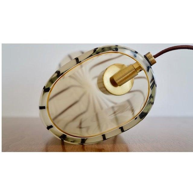 Striped Murano Italian Art Glass Lamp - Image 7 of 8