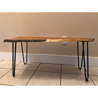 Rustic Handcrafted Michigan Cherry Live Edge Coffee Table Preview