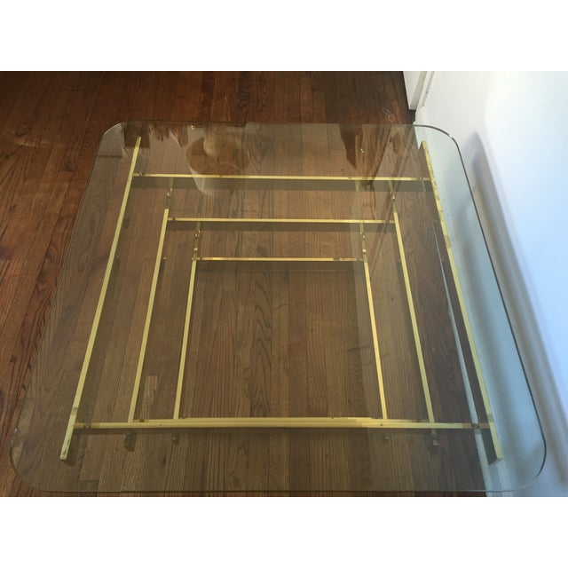 Paul Mayan Attributed Brass Stacked Coffee Table - Image 5 of 9