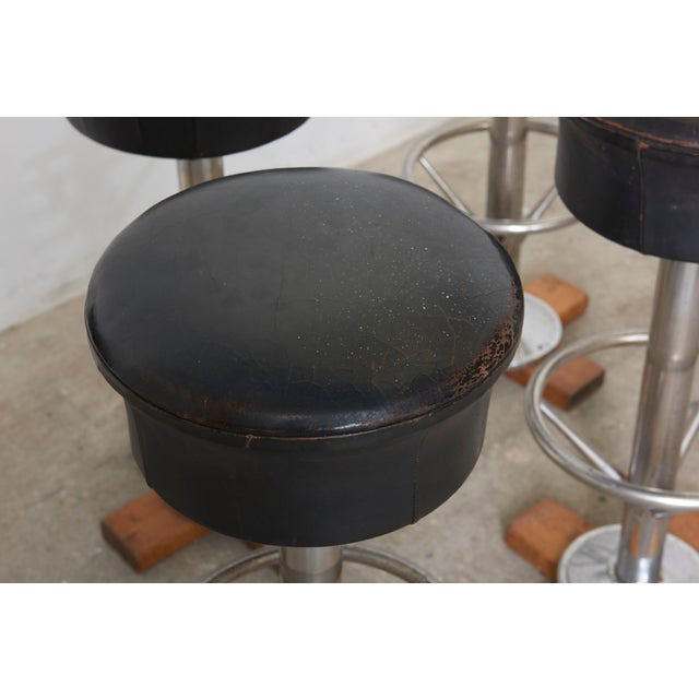 Set of Five Belgium Revolving Barstools, 1960s For Sale - Image 6 of 11