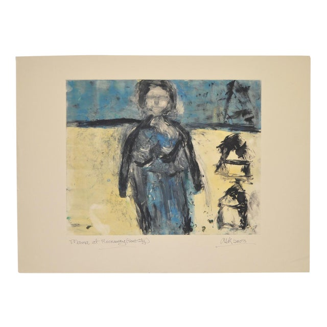 "Arthur Krakower ""Mama at Rockaway"" Original Monotype C. 2003 - Image 1 of 5"