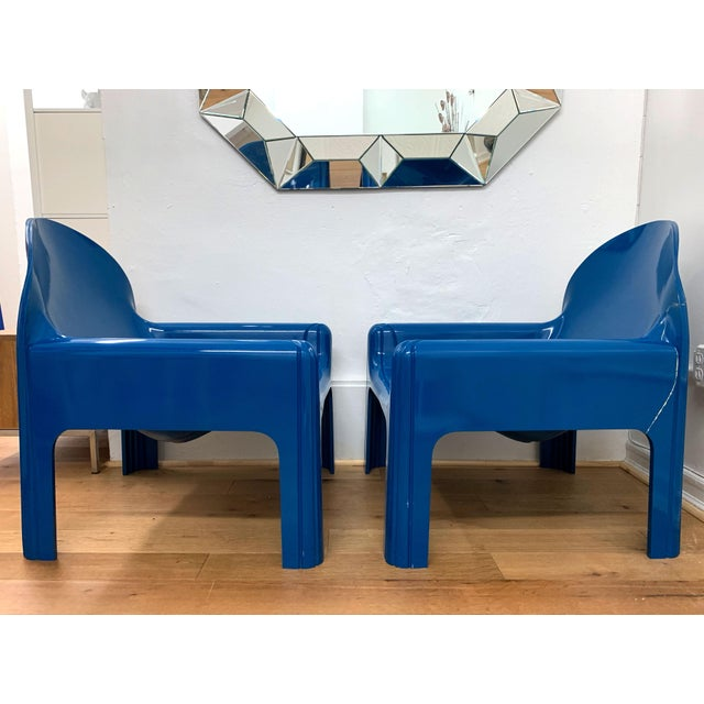 1970s Vintage Gae Aulenti for Kartell Italian Lounge Chairs- A Pair For Sale In New York - Image 6 of 13