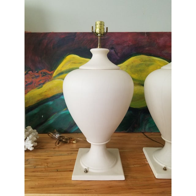 Late 20th Century Kostka Ceramic Lamps - a Pair For Sale - Image 4 of 13