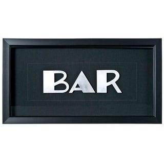 """Framed Vintage French Aluminum """"BAR"""" Letters"""