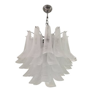 """Selle Alabastro"" Mazzega Style Chandelier For Sale"