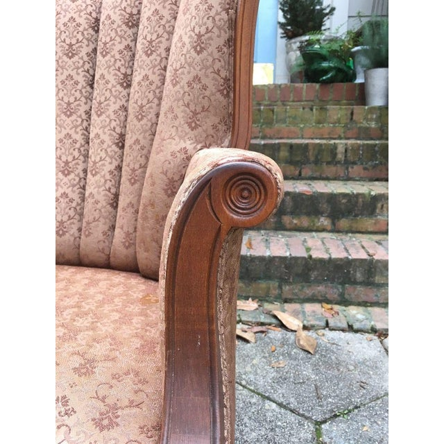 Hollywood Regency Channel Back Chair For Sale - Image 4 of 6