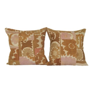 Suzani Patchwork Pillow - a Pair For Sale