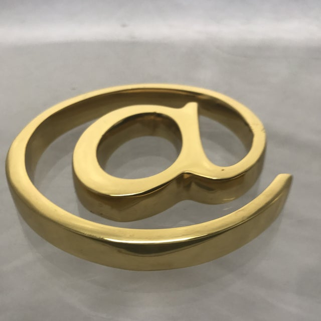 Solid Brass At Sign Paperweight For Sale - Image 5 of 7