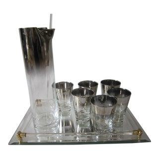Vintage Silver Ombre Bar Set - 9 Pieces For Sale