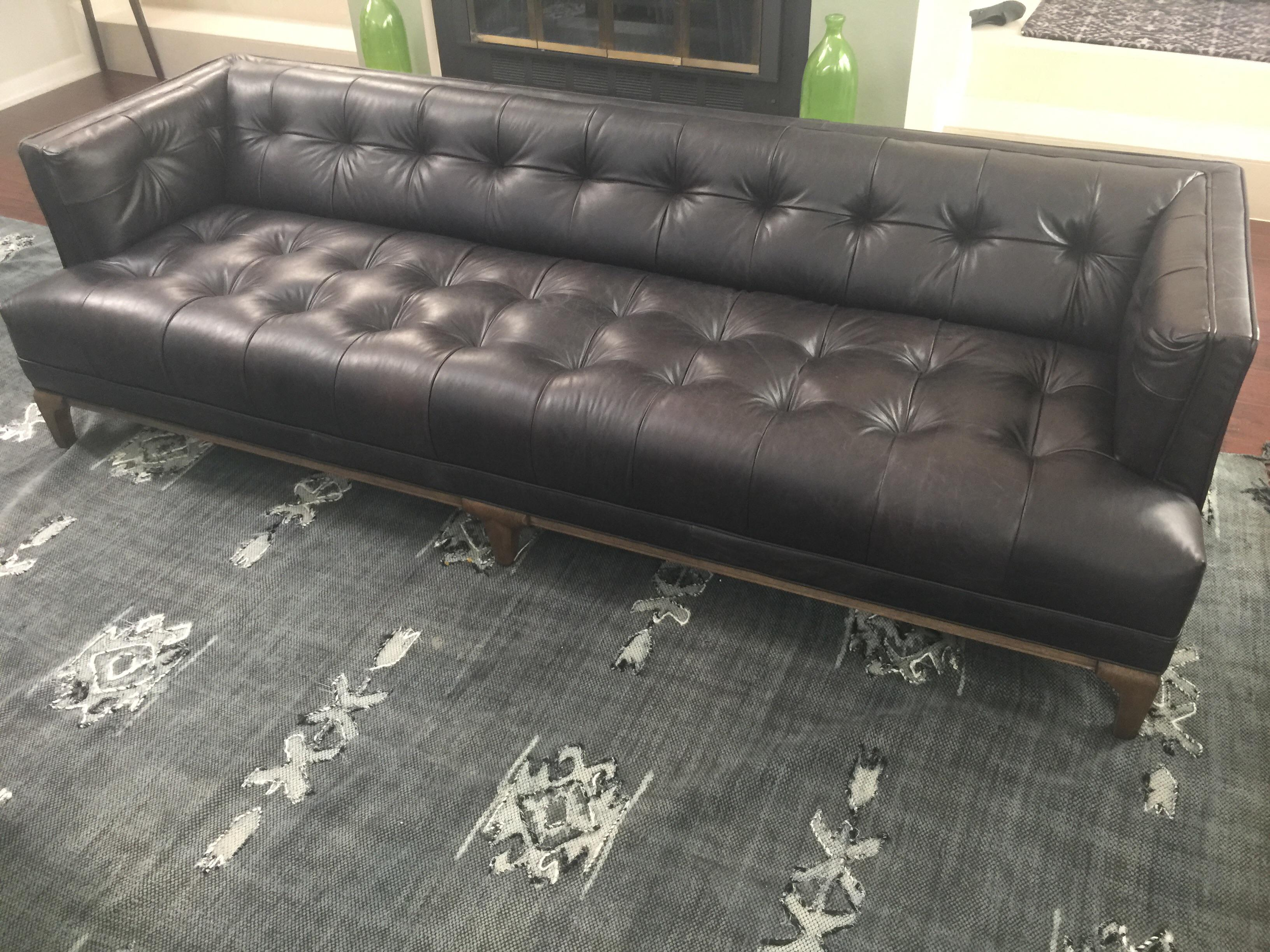 Gentil Four Hands Dylan Leather Sofa For Sale. Direct From The Show Room. A Low,  Tight Mid Century Silhouette In A
