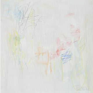 """""""Soft Shoe"""" Contemporary Minimalist Mixed-Media Painting by Sarah Trundle For Sale"""