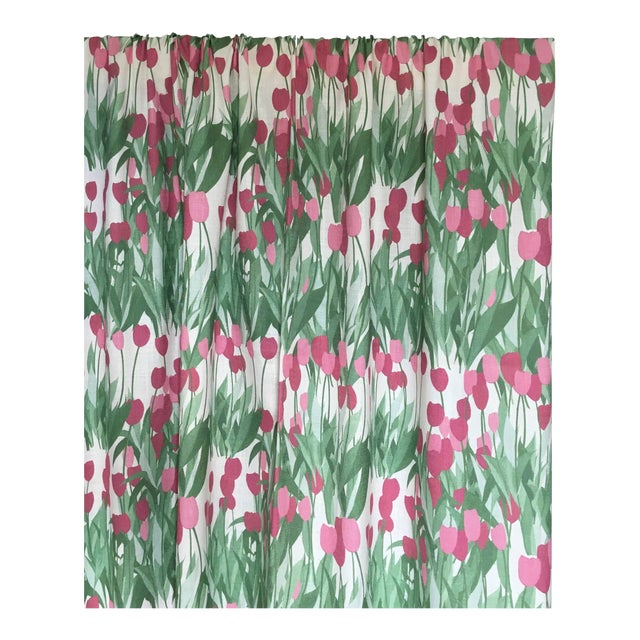 In Bloom Fabric in Spinel Red, Sample For Sale - Image 4 of 7