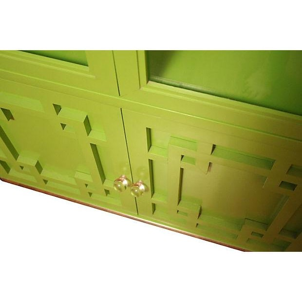 Green Thomasville Fretwork Cabinets - Set of 3 - Image 7 of 7