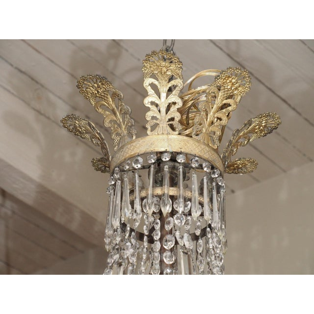 19th Century Empire Crystal Chadelier - Image 3 of 9