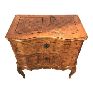 An Italian Ebony and Inlaid Continental Commode / Nightstand, 19th Century