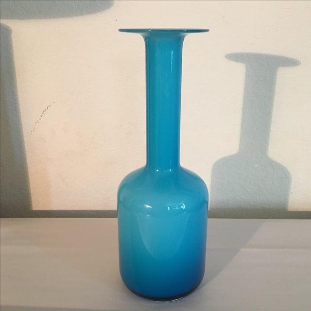 LSA Glass Blue Cased Cylinder Vase - Image 3 of 5