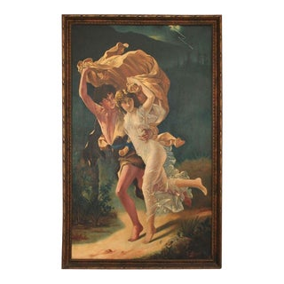 1920's Painting Signed G. Moreschi For Sale