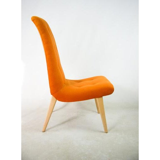 Norman Bel Geddes Mid-Century Modern Orange Side Chair - Image 4 of 9
