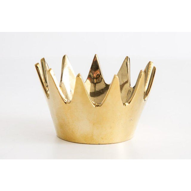 Mid-Century Modern Carl Auböck Model #3600 'Crown' Brass Bowl For Sale In Los Angeles - Image 6 of 6
