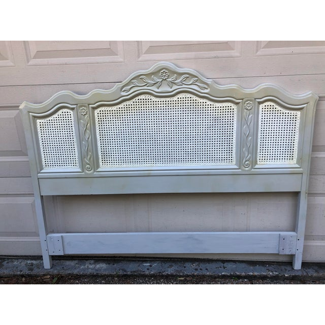 Drexel Heritage Cabernet Classics Full/Queen Painted Caned Headboard For Sale - Image 13 of 13