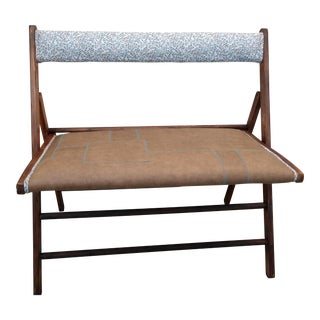 Upholstered Wooden Folding Bench