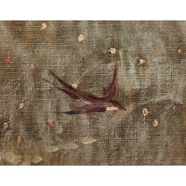 "Canvas Art Nouveau Painting by Alexander Goltz, ""Fruhling"" For Sale - Image 7 of 8"