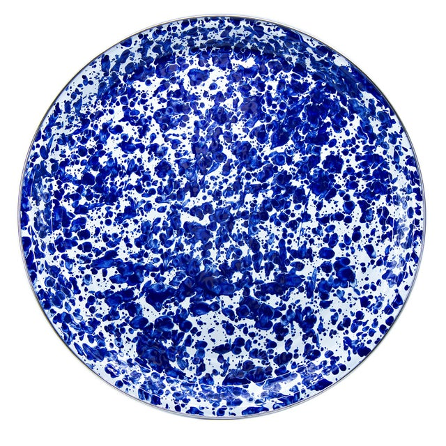 Modern Large Tray Cobalt Swirl For Sale - Image 3 of 3