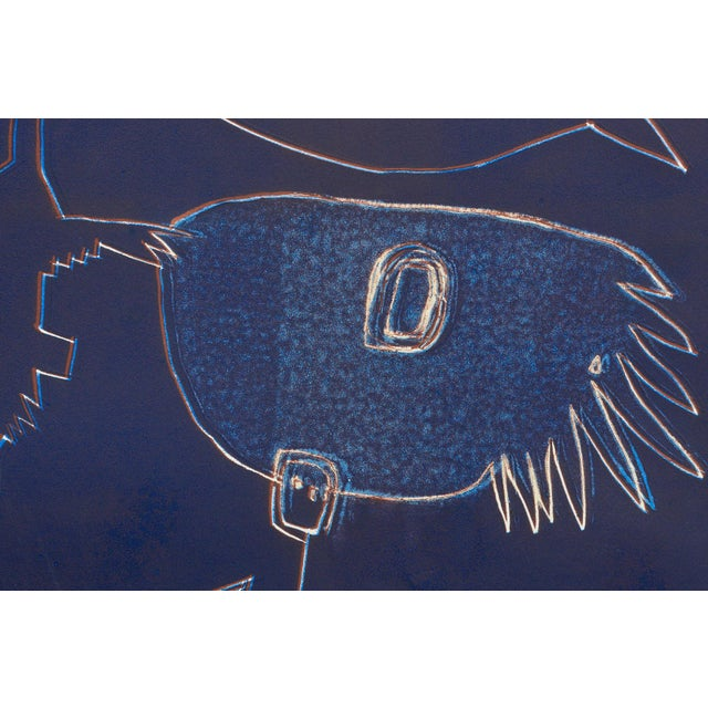 Wyona Diskin Wyona Diskin Blue Man With Fish For Sale - Image 4 of 9