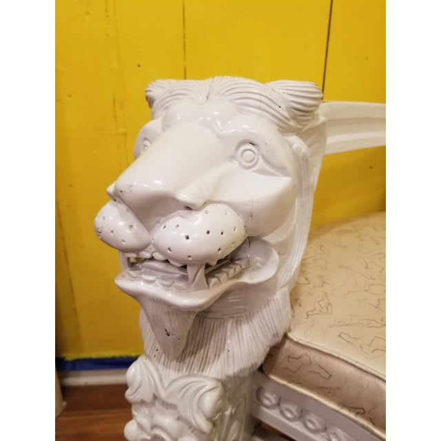 19th Century Antique Lion Chair For Sale - Image 9 of 11