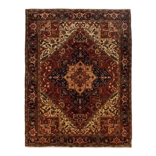 "One-Of-A-Kind Persian Hand-Knotted Area Rug, Sienna, 8' 6"" X 11' 2"" For Sale"