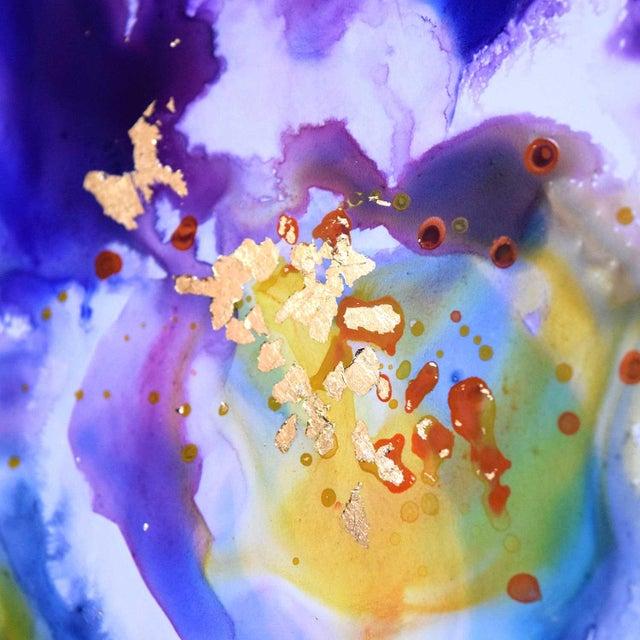 Original Purple Iris Painting For Sale - Image 5 of 5