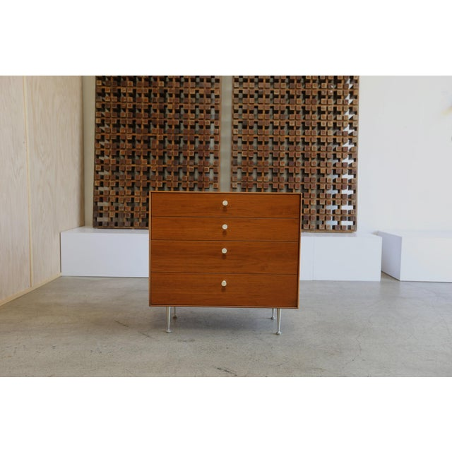 Mid-Century Modern George Nelson for Herman Miller Teak Thin Edge Chest of Drawers For Sale - Image 11 of 12