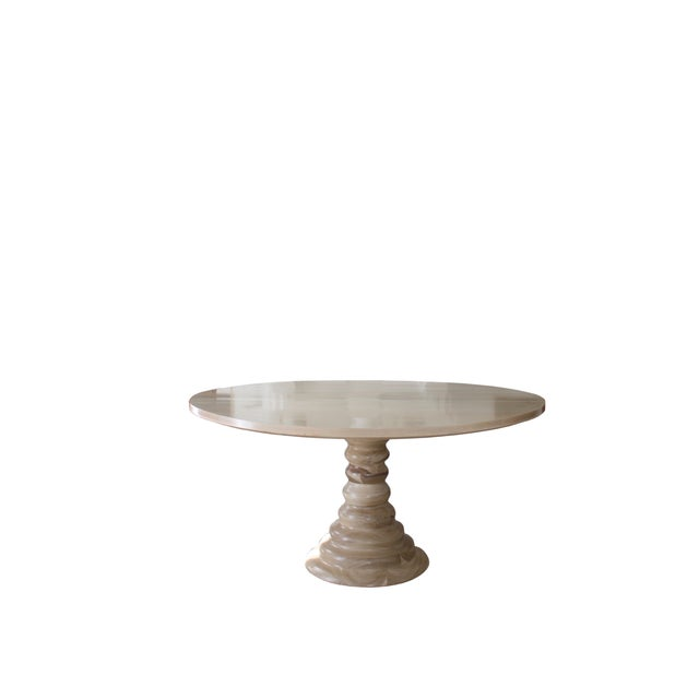 Not Yet Made - Made To Order Modern Amelia Round Wooden Dining Table For Sale - Image 5 of 8