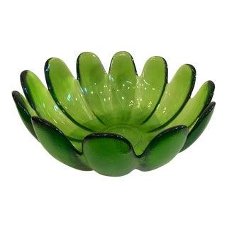 Mid-Century Green Blenko Tulip Bowl