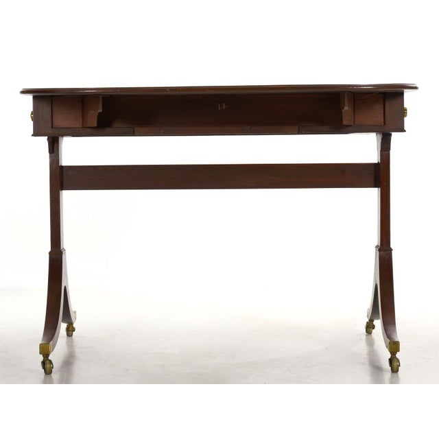 19th Century English Regency Antique Mahogany Sofa Accent Table, Circa 1815 For Sale - Image 4 of 13