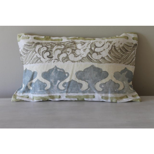 Jim Thompson Design Fabric Pillow For Sale - Image 4 of 4