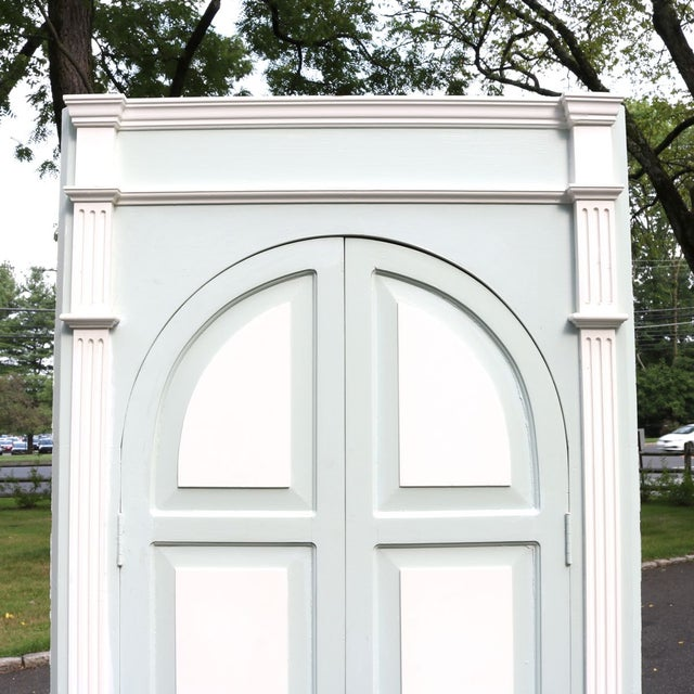 Custom Arch Panel Corner Cabinets - A Pair - Image 6 of 11