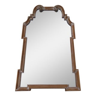 Italian Queen Anne Style Lime Washed Mirror For Sale