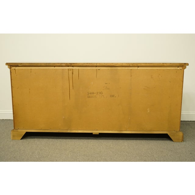 20th Century Italian Dixie Furniture Triple Door Dresser For Sale - Image 10 of 13
